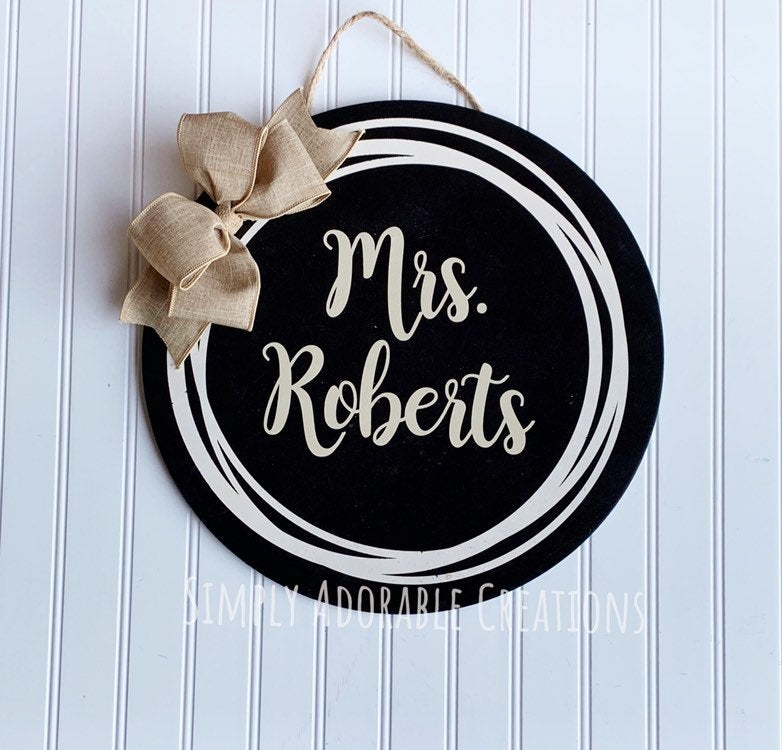 Farmhouse Classroom Sign, Circle Name Sign, School Decoration, Wall  Decor, Teacher Classroom Wreath - Simply Adorable Creations