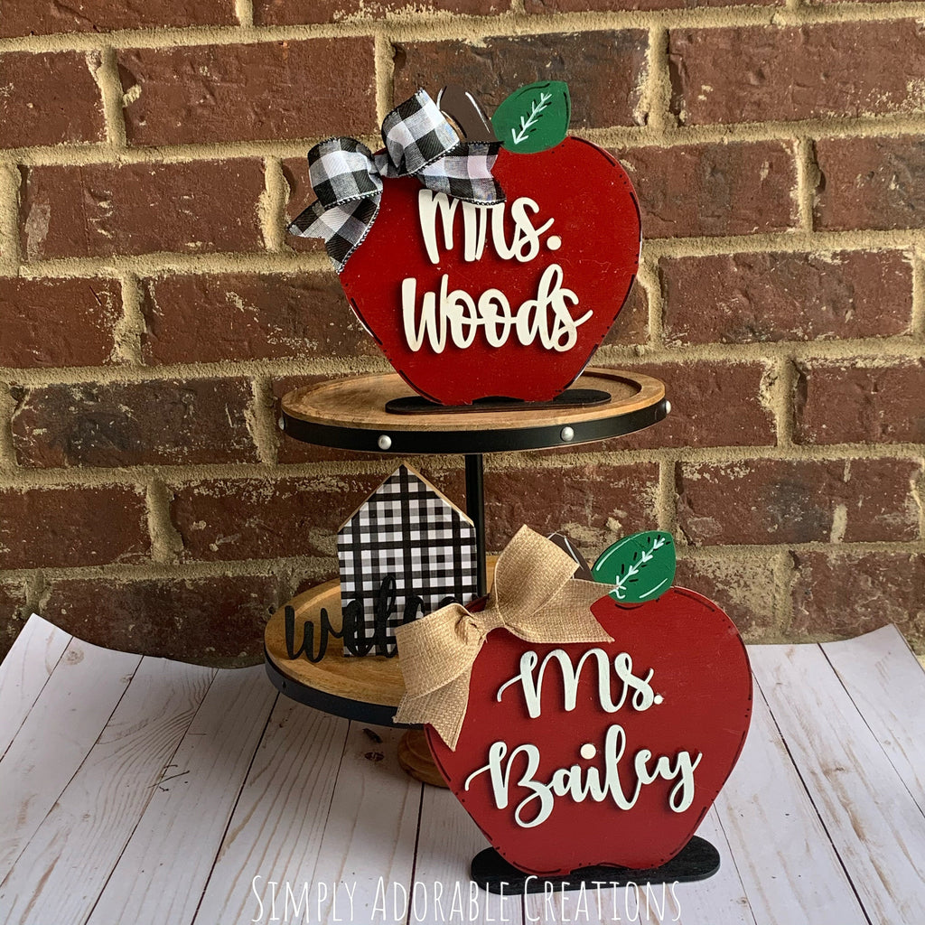 Teacher Appler Shelf Sitter - Simply Adorable Creations