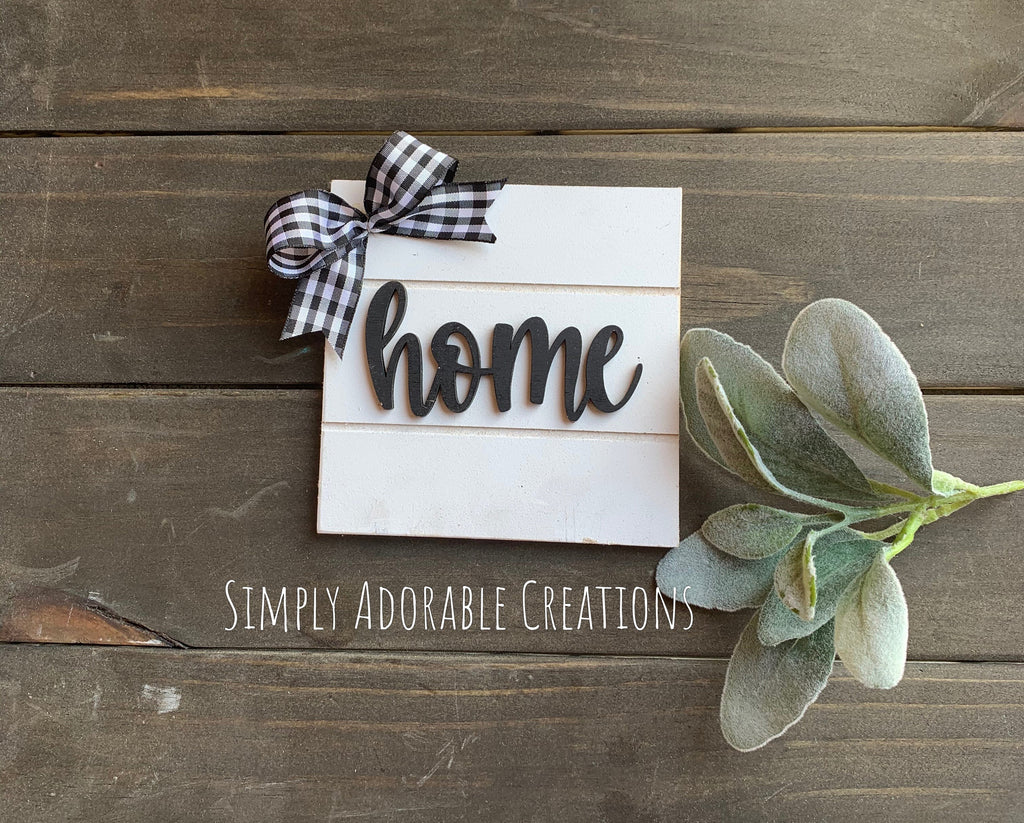 Shiplap Farmhouse Mini Tiered Tray Signs