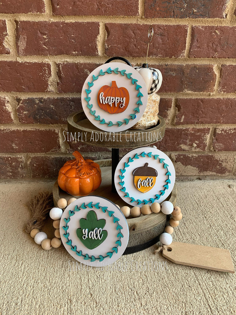 Happy Fall Y'all Tiered Tray Set