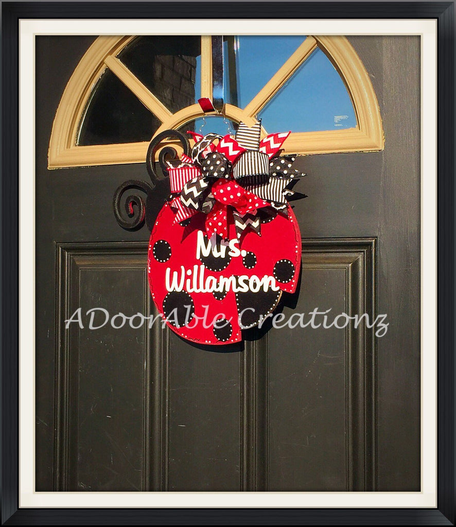 Ladybug Door Hanger - Simply Adorable Creations