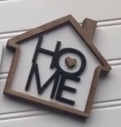 HOME House Tiered Tray Sign