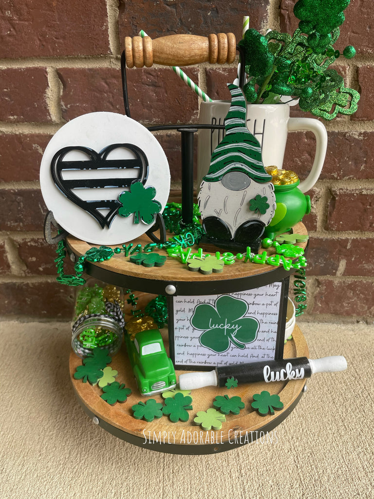 St. Patty's Day Tiered Tray Decor Bundle