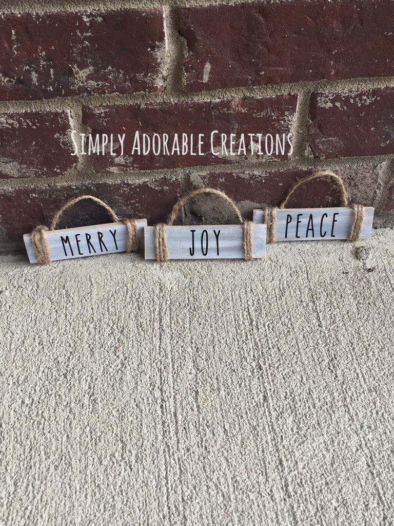 Unfinished DIY Rustic Ornament Kit - Simply Adorable Creations