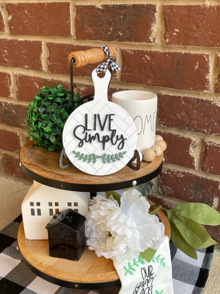 Live Simply Tiered Tray Live Sale