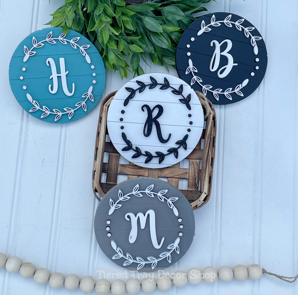 Monogram Tiered Tray Sign