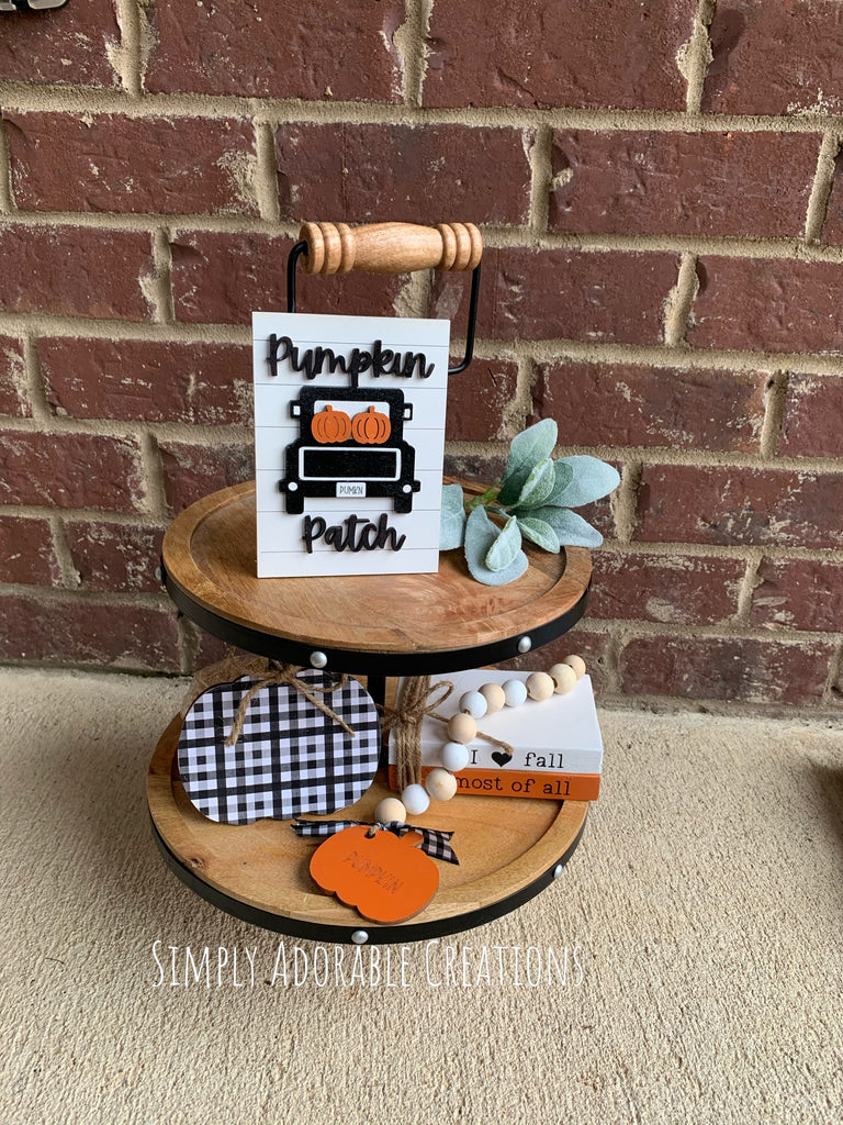 Fall Tiered Truck Tray Set