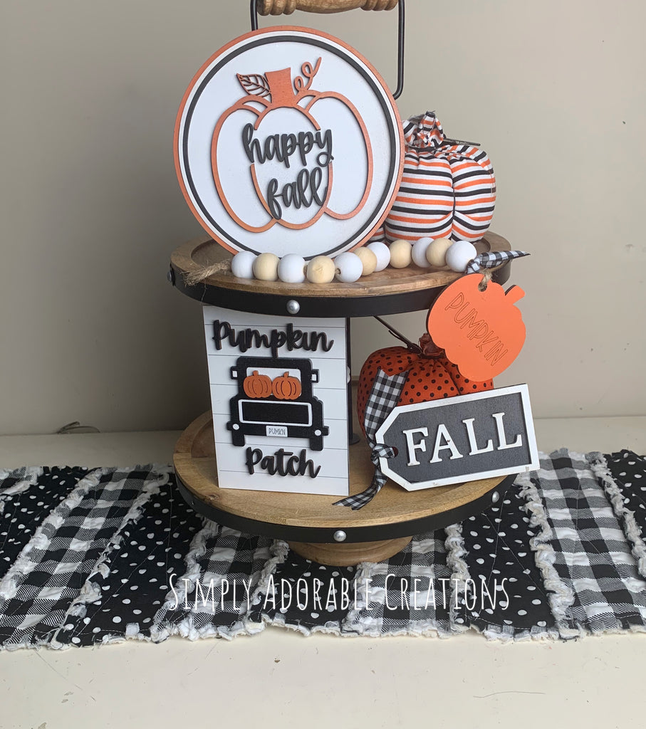 Happy Fall Tiered Tray Sign Set