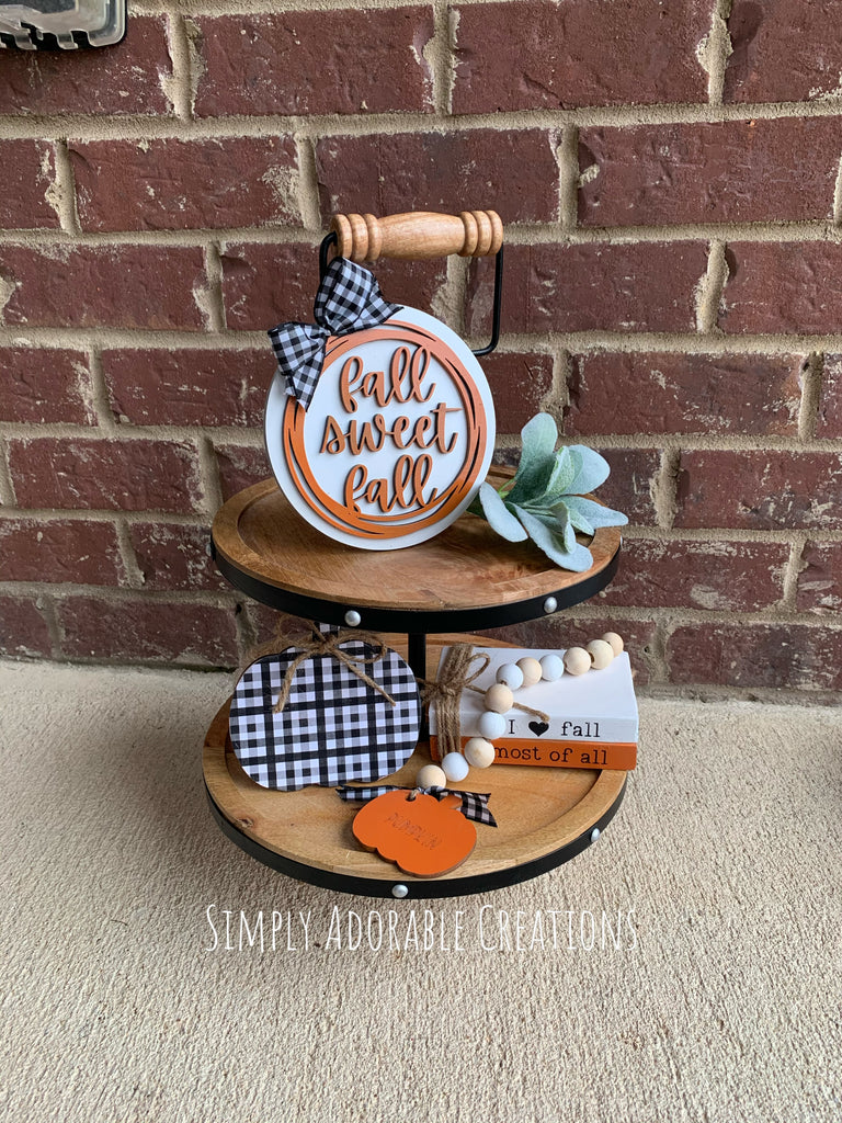 Fall Tiered Tray Set, Fall Sweet Fall