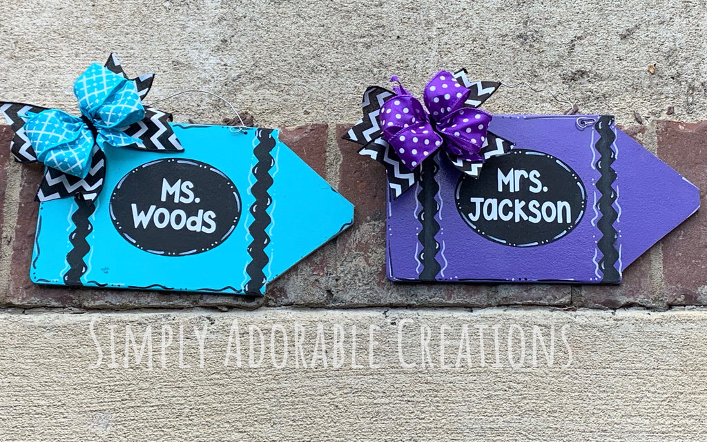 MIni Crayon Door Hanger - Simply Adorable Creations