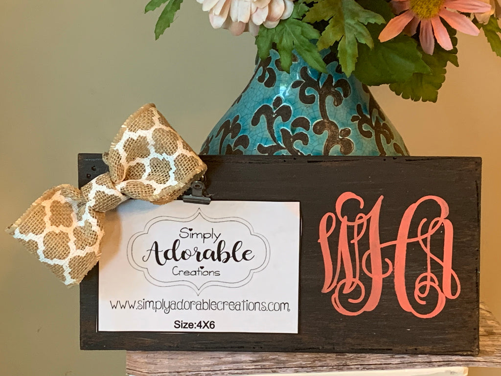 Monogram Picture Frame - Simply Adorable Creations