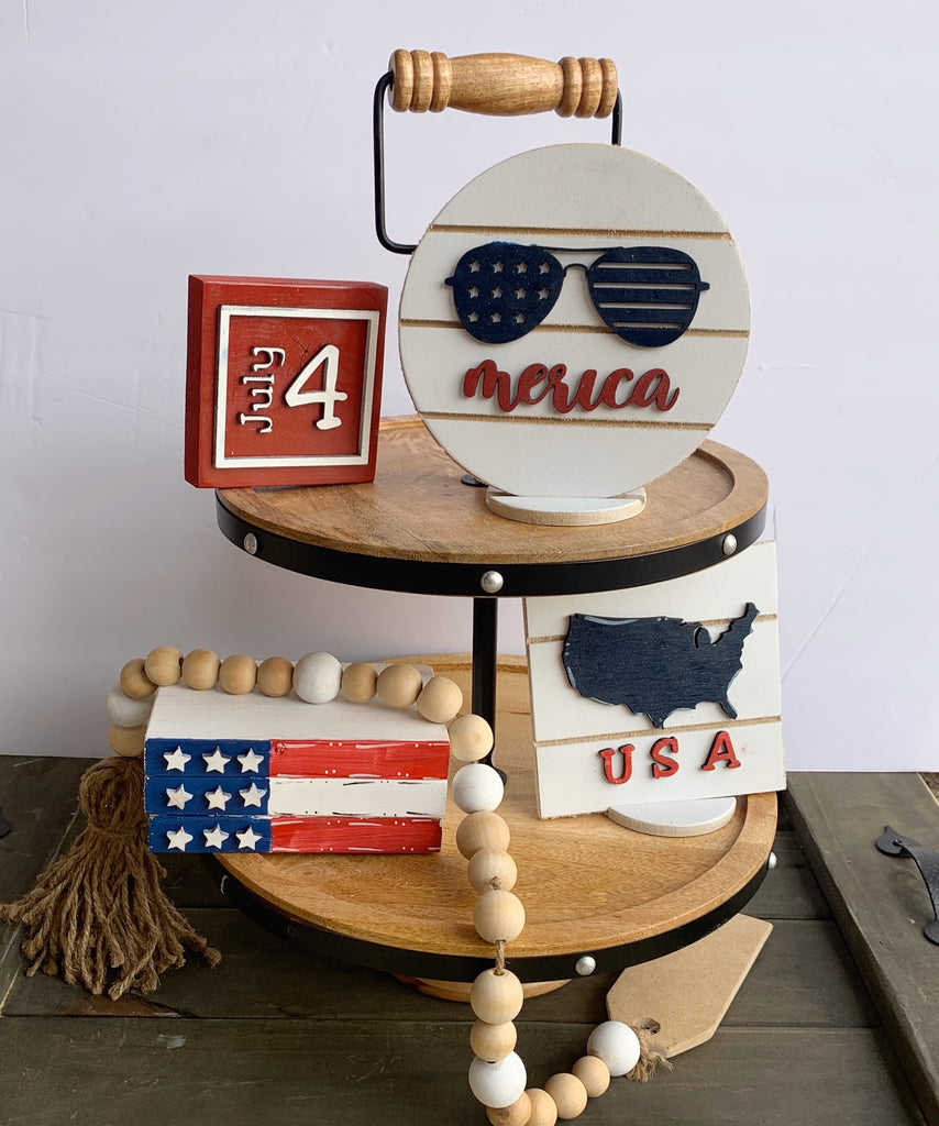 Patriotic Tiered Tray Signs - Simply Adorable Creations