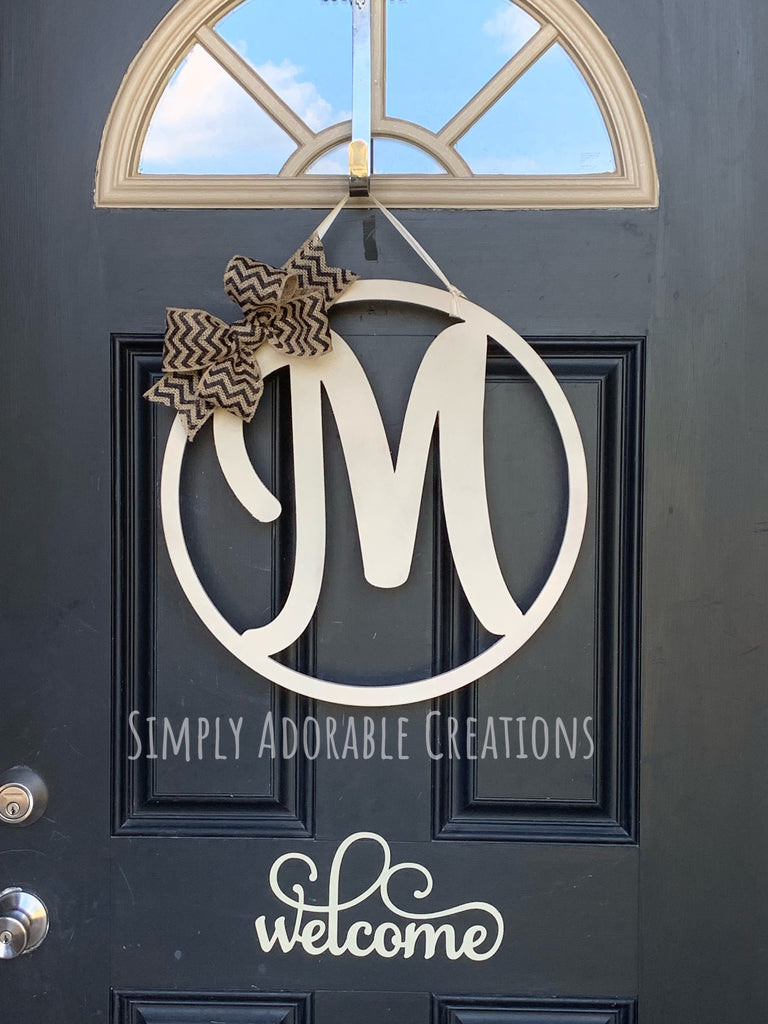 Monogram Letter for Front Door - Simply Adorable Creations