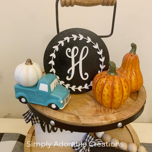 Farmhouse trucks and pumpkin