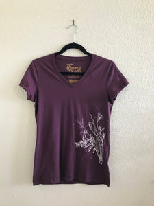 califlora short sleeve v-neck tee / ladies