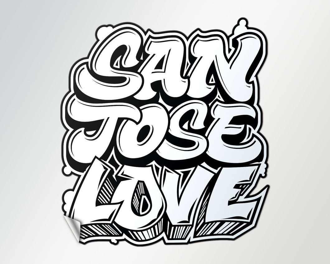 large classic san josé love di-cut sticker