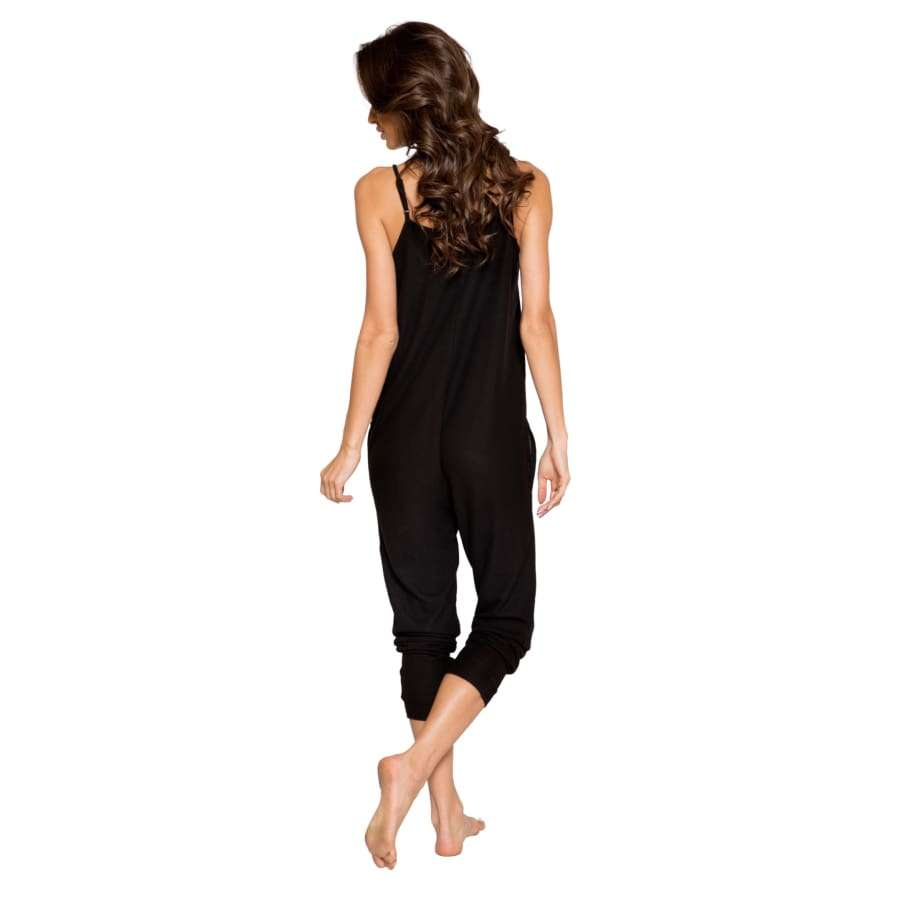 Cozy & Comfy Pajama Jumpsuit with Pocket Details (Curvy Sizes Available) - lingerie