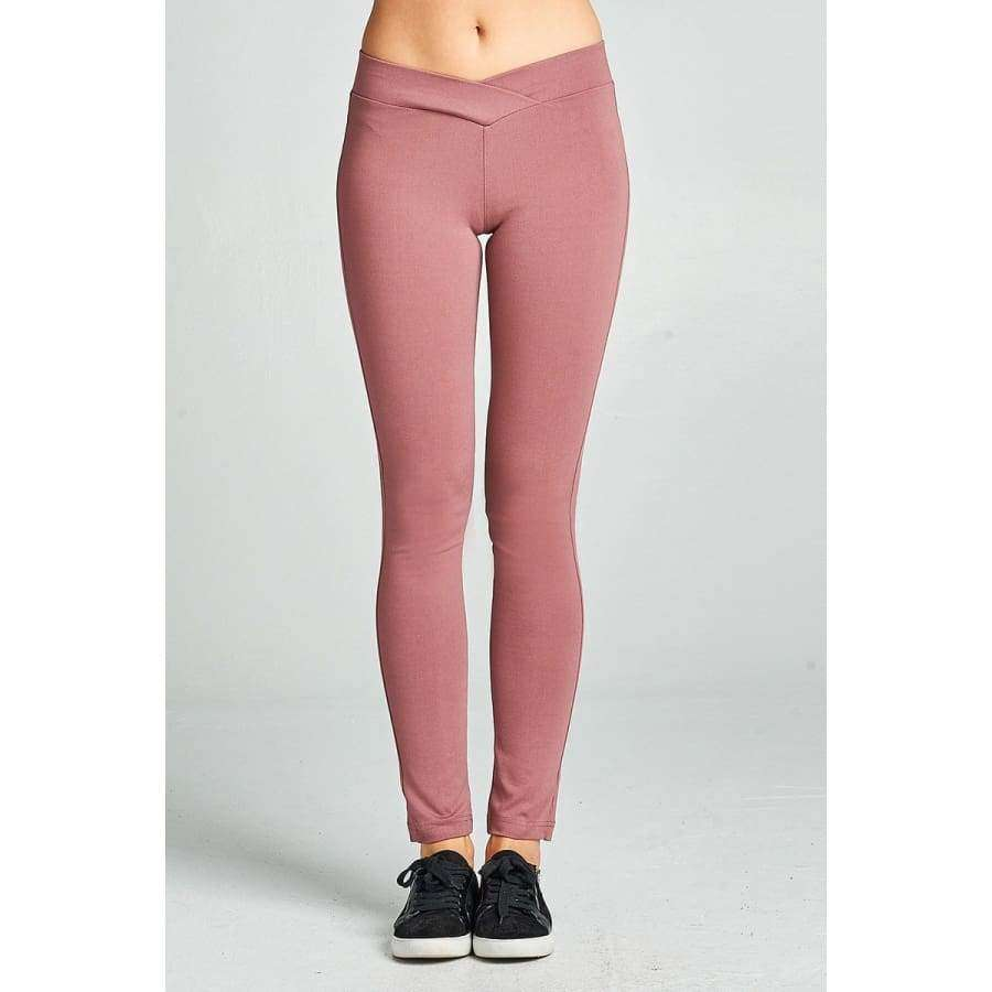 Wood Pink Long Pants (Curvy Sizes Only) - Pants