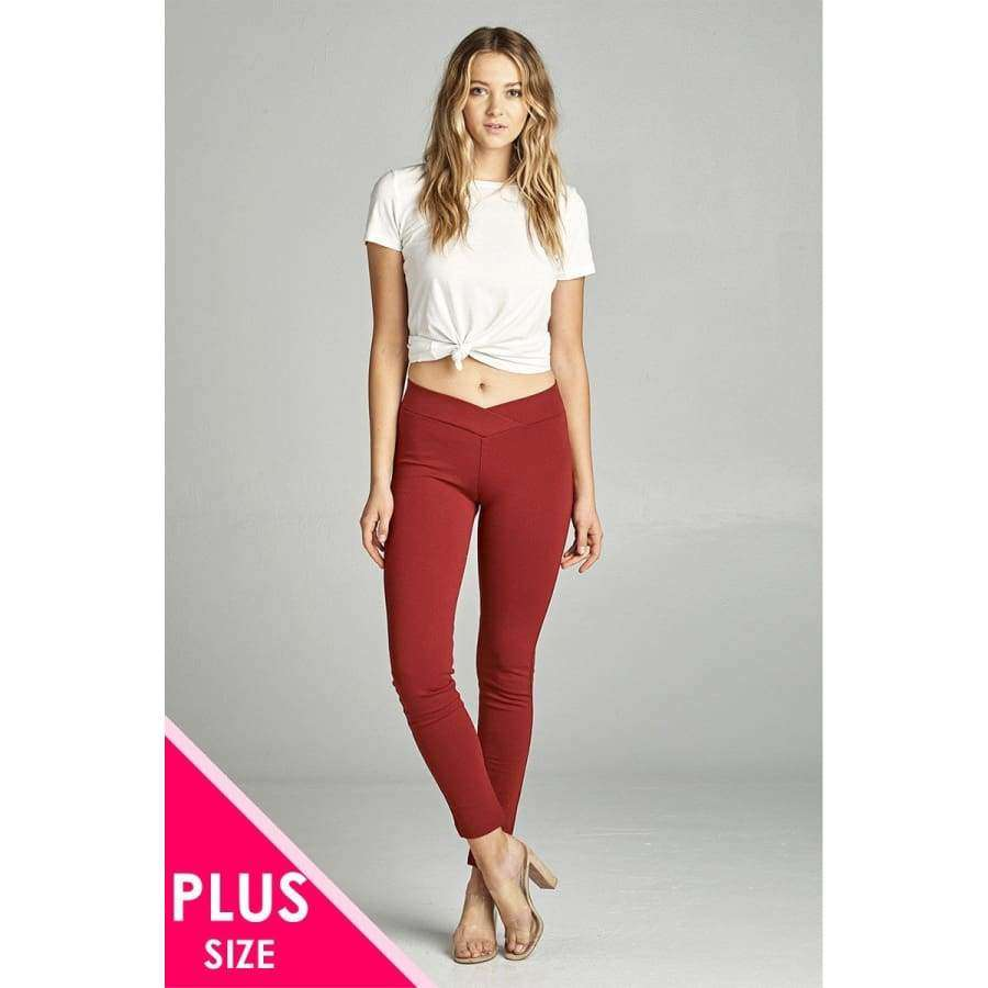 Spicy Rust Long Pants (Curvy Sizes Only) - 1XL - Pants