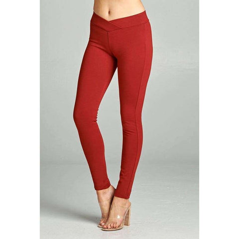 Spicy Rust Long Pants (Curvy Sizes Only) - Pants