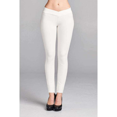 Off White Long Pants (Curvy Sizes Only) - Pants