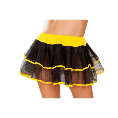 Double Layer Petticoat - One Size / Black/Yellow - Costume