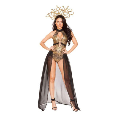 Medusa Snake Lover 3pc Set - Small / Black/Gold - Costume