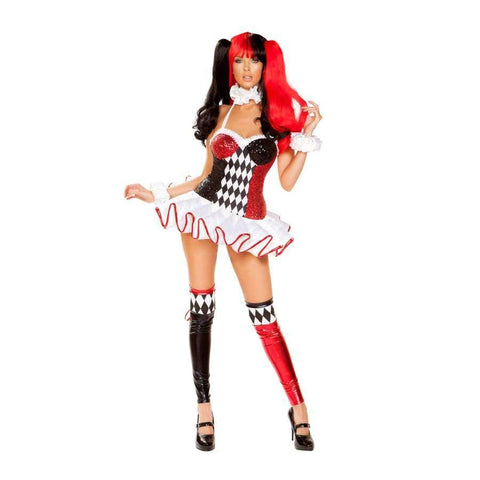 Joker Lover 3pc Set - Small / Black/Red/White - Costume