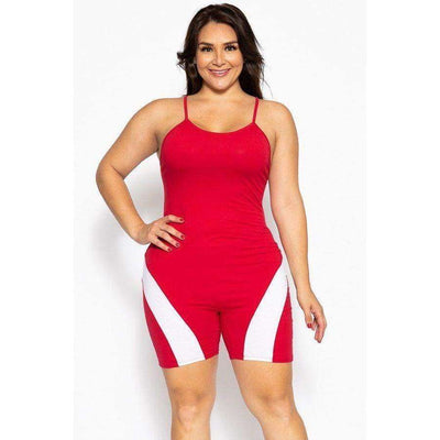 Body-con Romper Body Suit (Curvy Sizes Only) - 1XL - Fitness