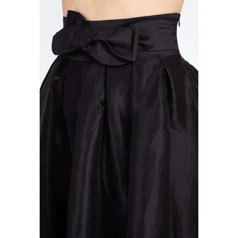Taffeta Black High-Low Skirt - Skirt