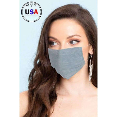Blue Cool Breathable Fabric Face Mask - Distinctive Woman