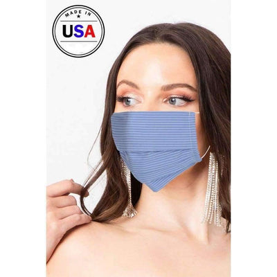 Blue Breathable Fabric Face Mask - Distinctive Woman