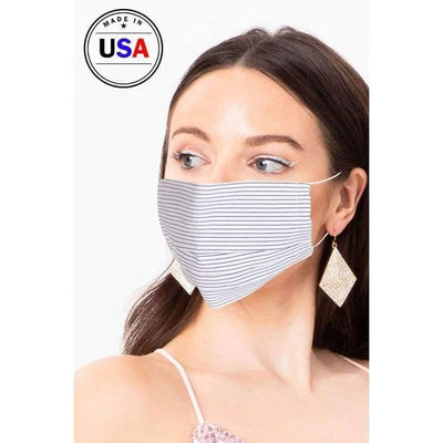White Cool Breathable Fabric Face Mask - Distinctive Woman