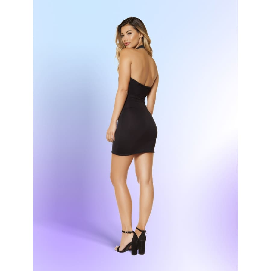 Partially Lined Cutout Top Mini Dress - Mini Dresses