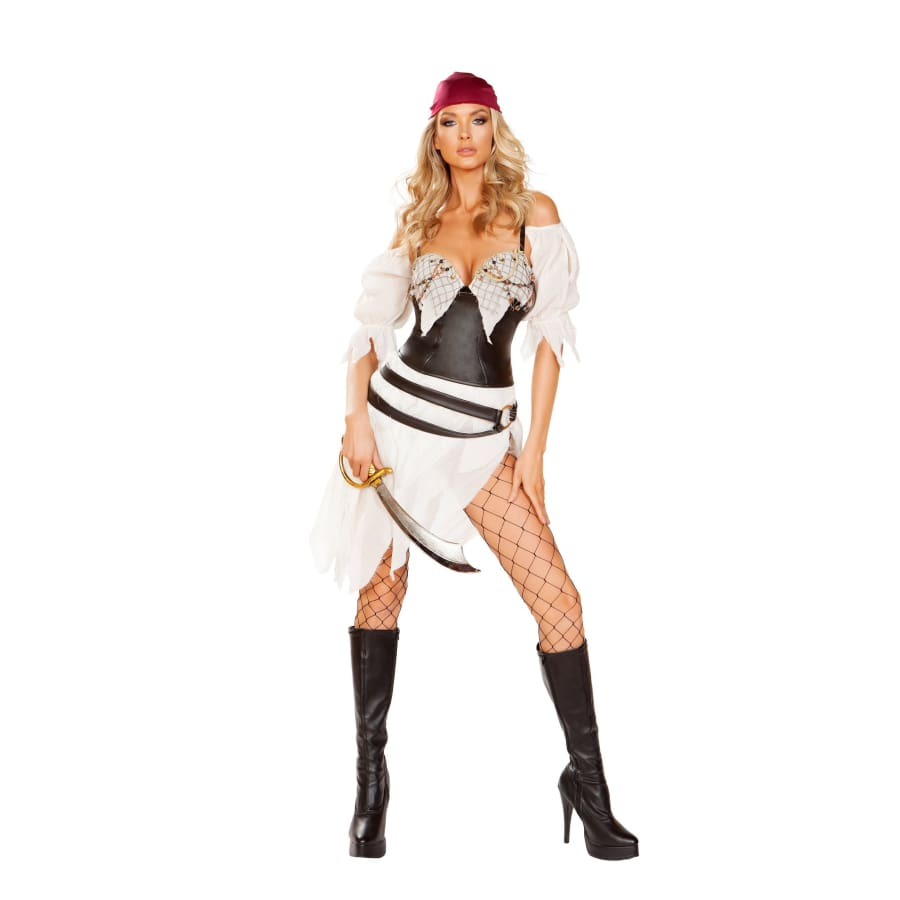 Pirate Thief 6pc Set - Small / White/Brown - Costume
