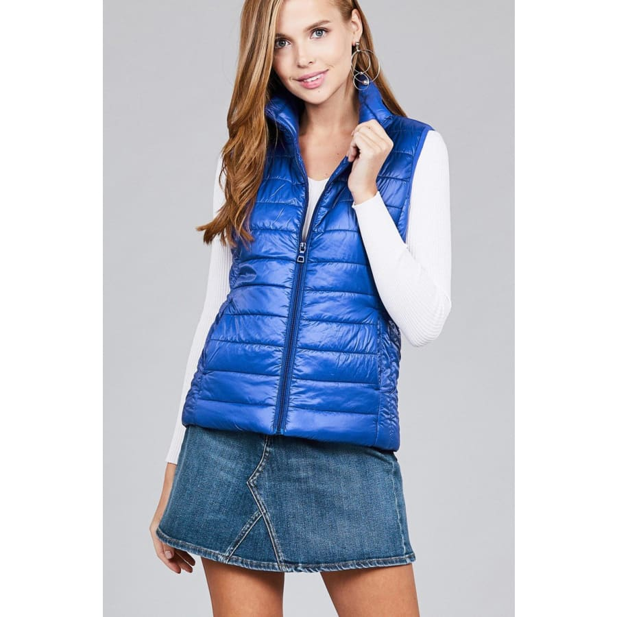 Quilted Padding Vest - Royal / S - Jacket
