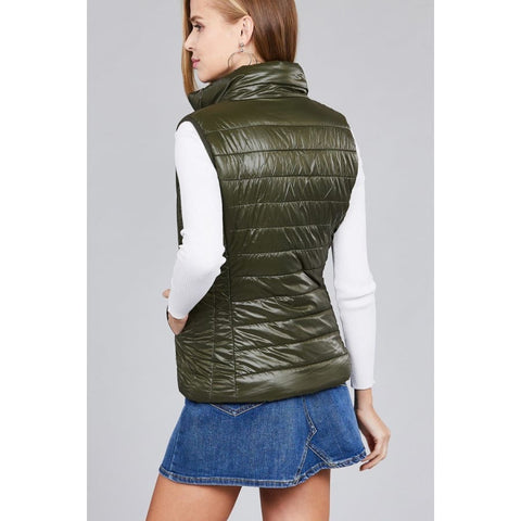 Quilted Padding Vest - Olive / S - Jacket