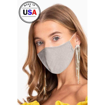 Made In Usa Unisex Fashionable Reusable Washable Cool Breathable Fabric 3d Face Mask - Sand