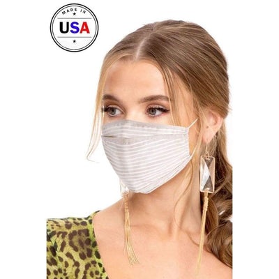 Made In Usa Fashionable 3d Reusable Face Mask - Sand