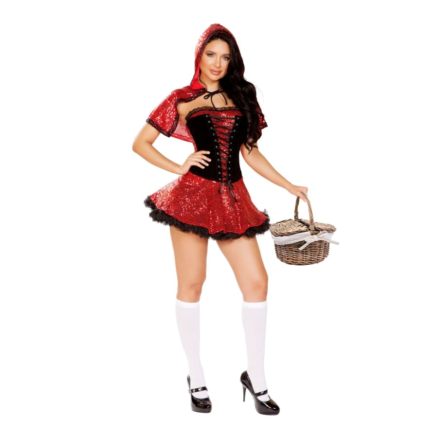 Scared Little Girl 2pc Set - Small / Red/Black - Costume