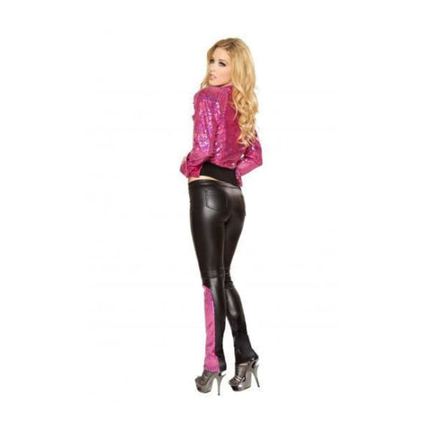 2979 Black/Hot Pink (Pants) - Roma Costume Pants,Blowout Sale - 2