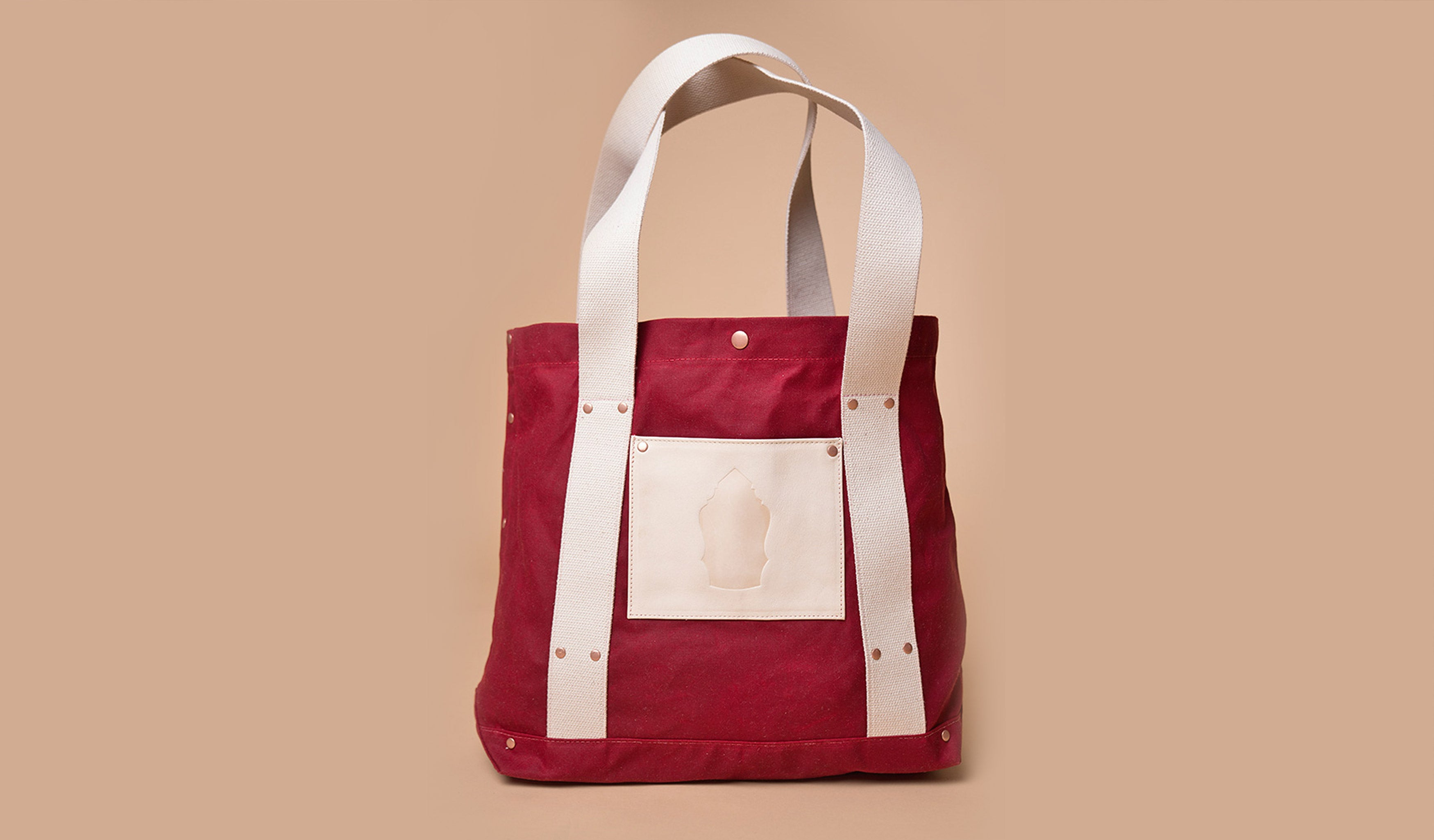 Harbor Tote (Red/Ivory)
