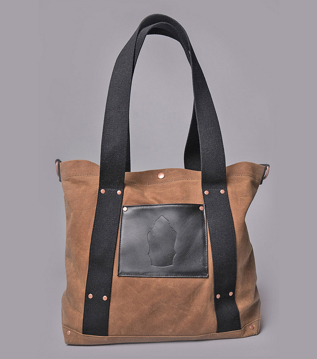 Harbor Tote (Brown/Black)