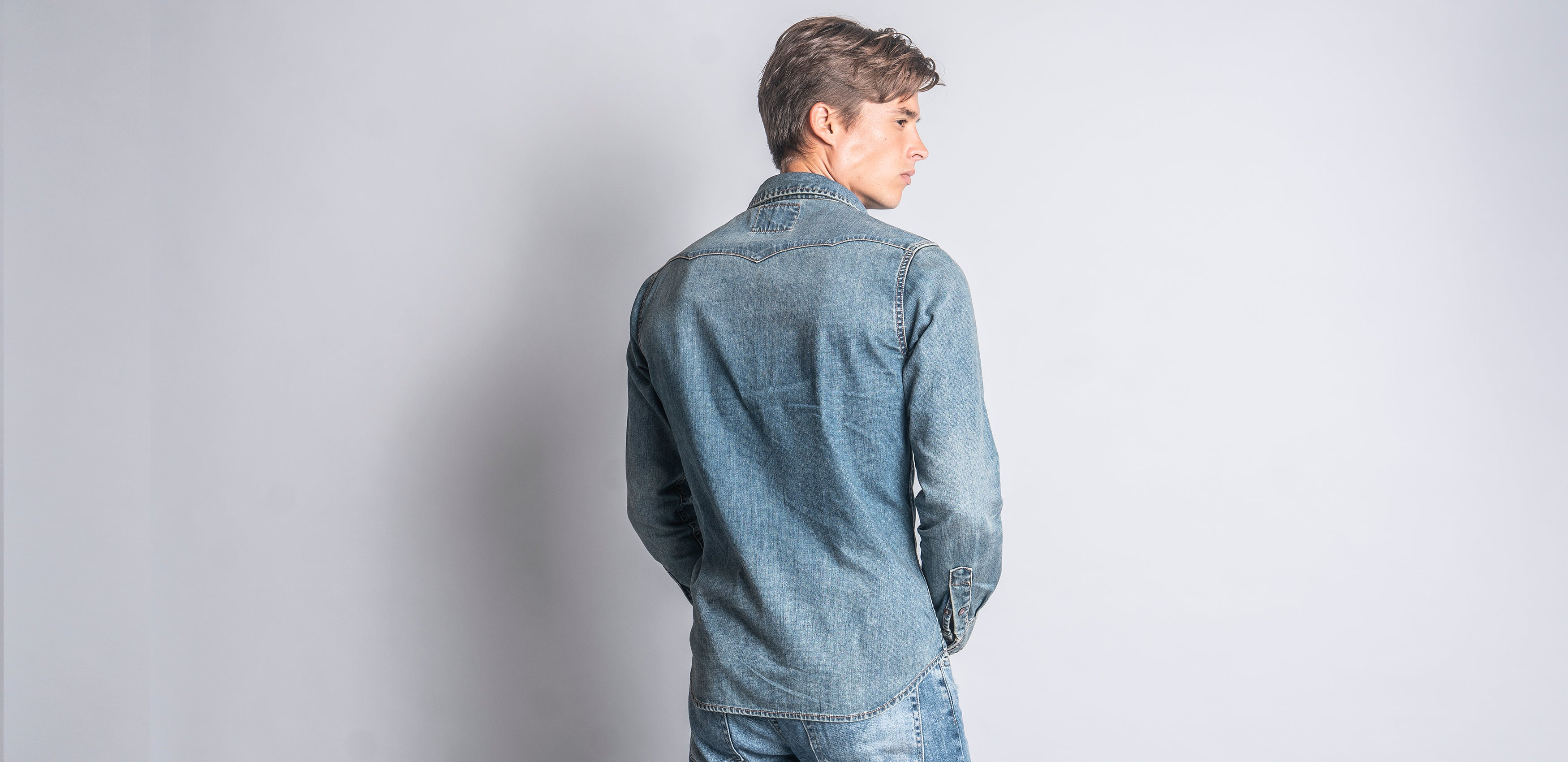 Wheel's on Fire Denim Shirt (Indigo)