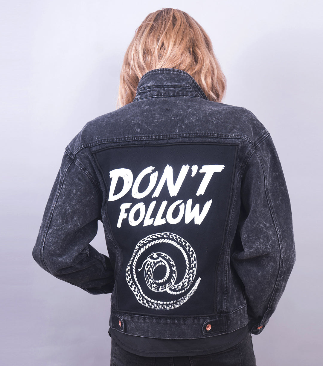 Don't Follow Jacket (Black Acid Wash)