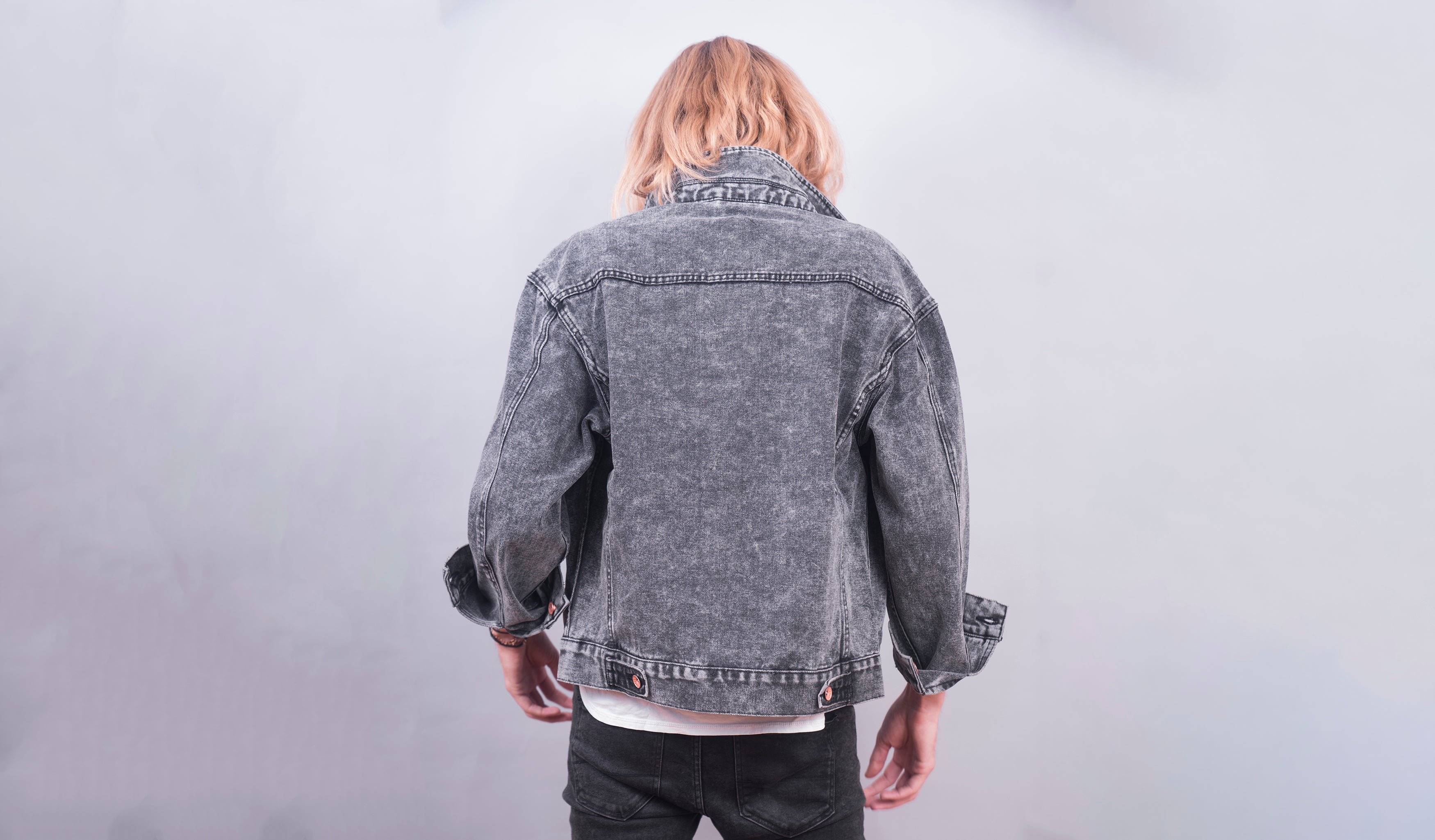 Classic Denim Jacket (Grey Acid Wash)