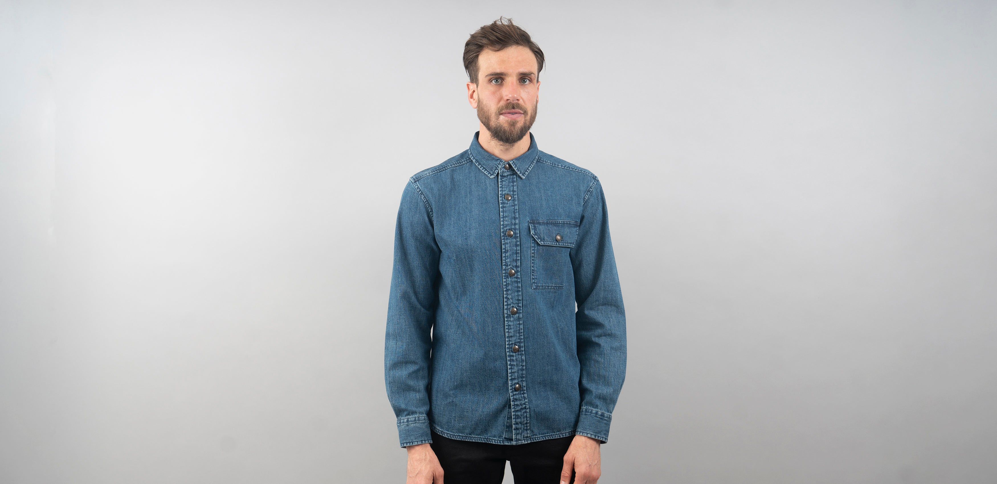 Denim Shirt + Henley + Saddle Bag Bundle