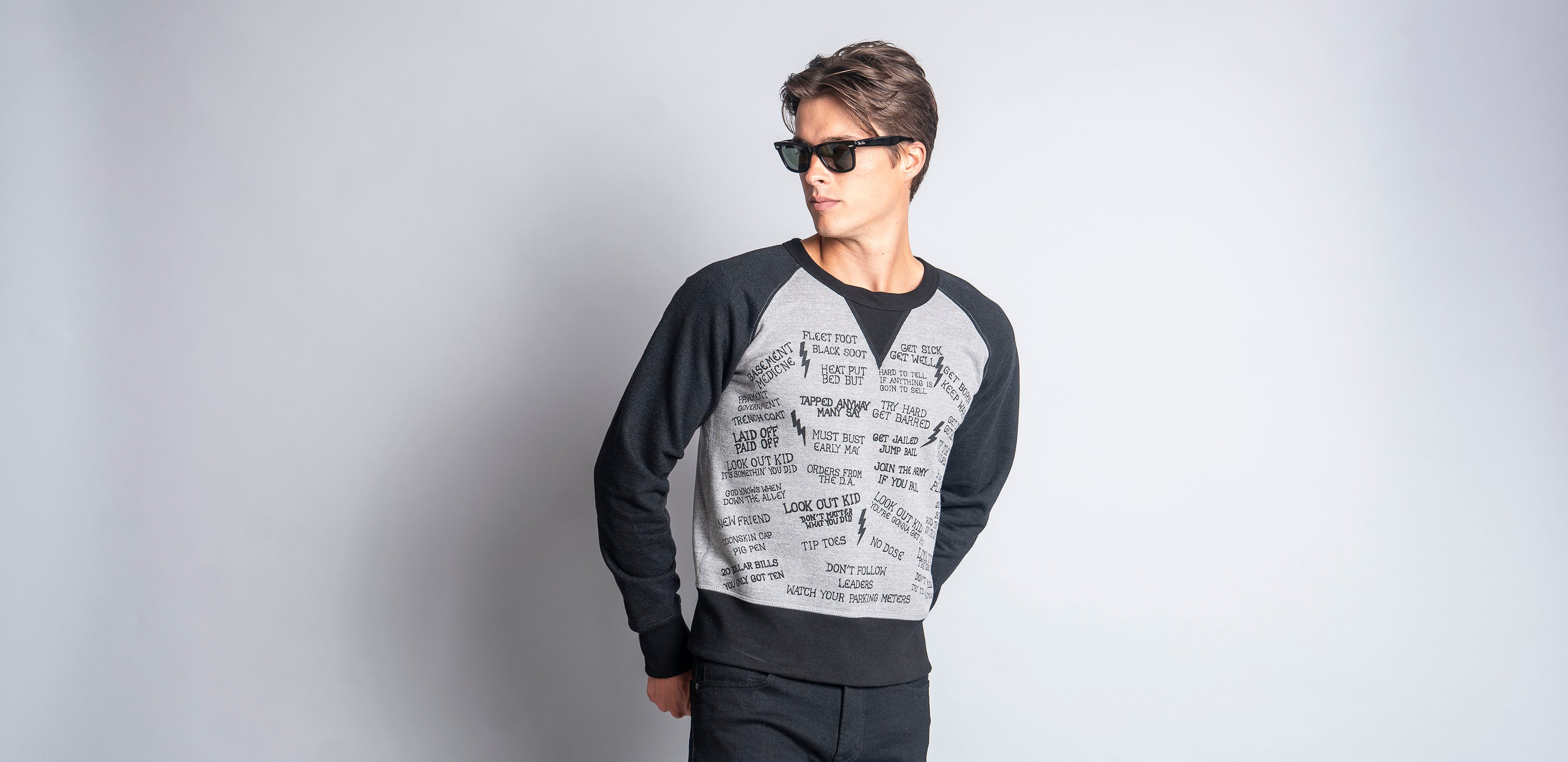 Homesick Sweatshirt (Grey/Black)