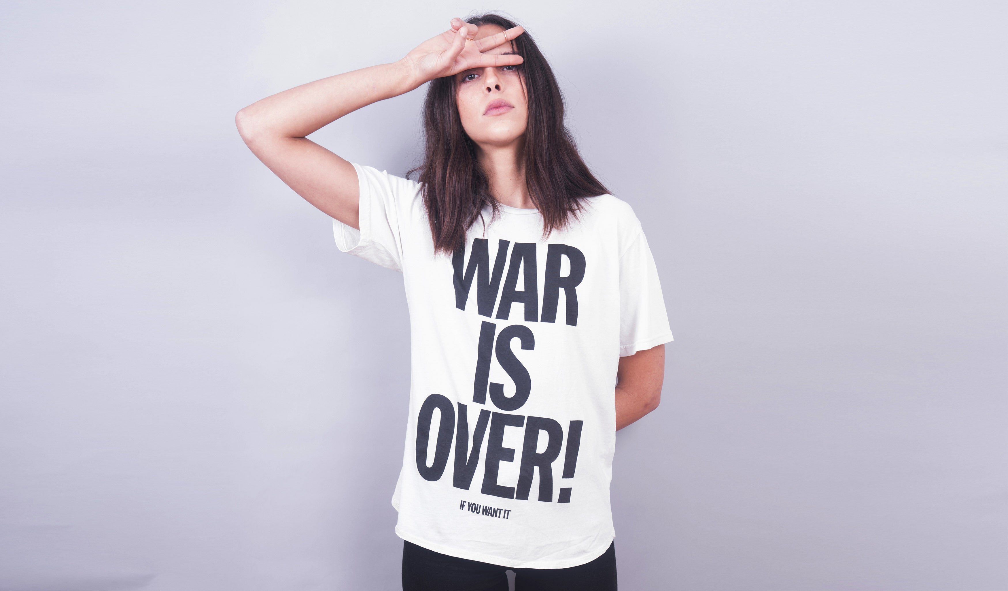 War is Over! (Washed White)