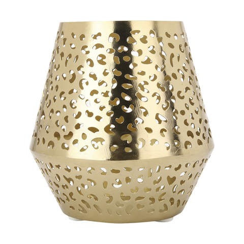 Candle Holder - gold mesh - small